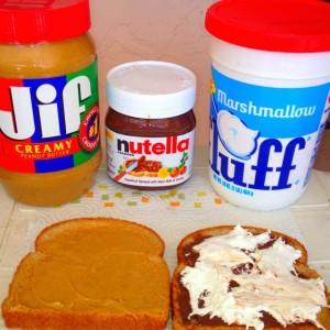 Fluffer Nutter sandwich alla Nutella