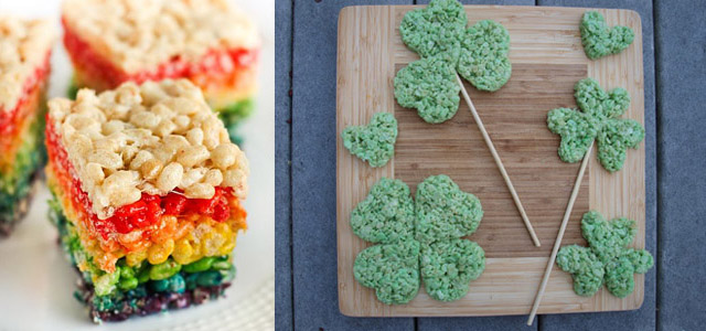 decorazioni per Rice Krispy Treats di St Paddy's Day