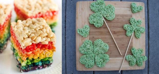 decorazioni per Rice Krispy Treats di St Paddy's Day