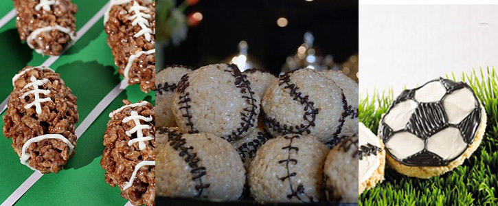 Idee sportive per decorare i Rice Krispy Treats
