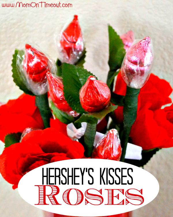 roses en hershey's kisses pour la saint valentin