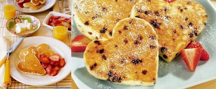 Pancakes pour la st valentin