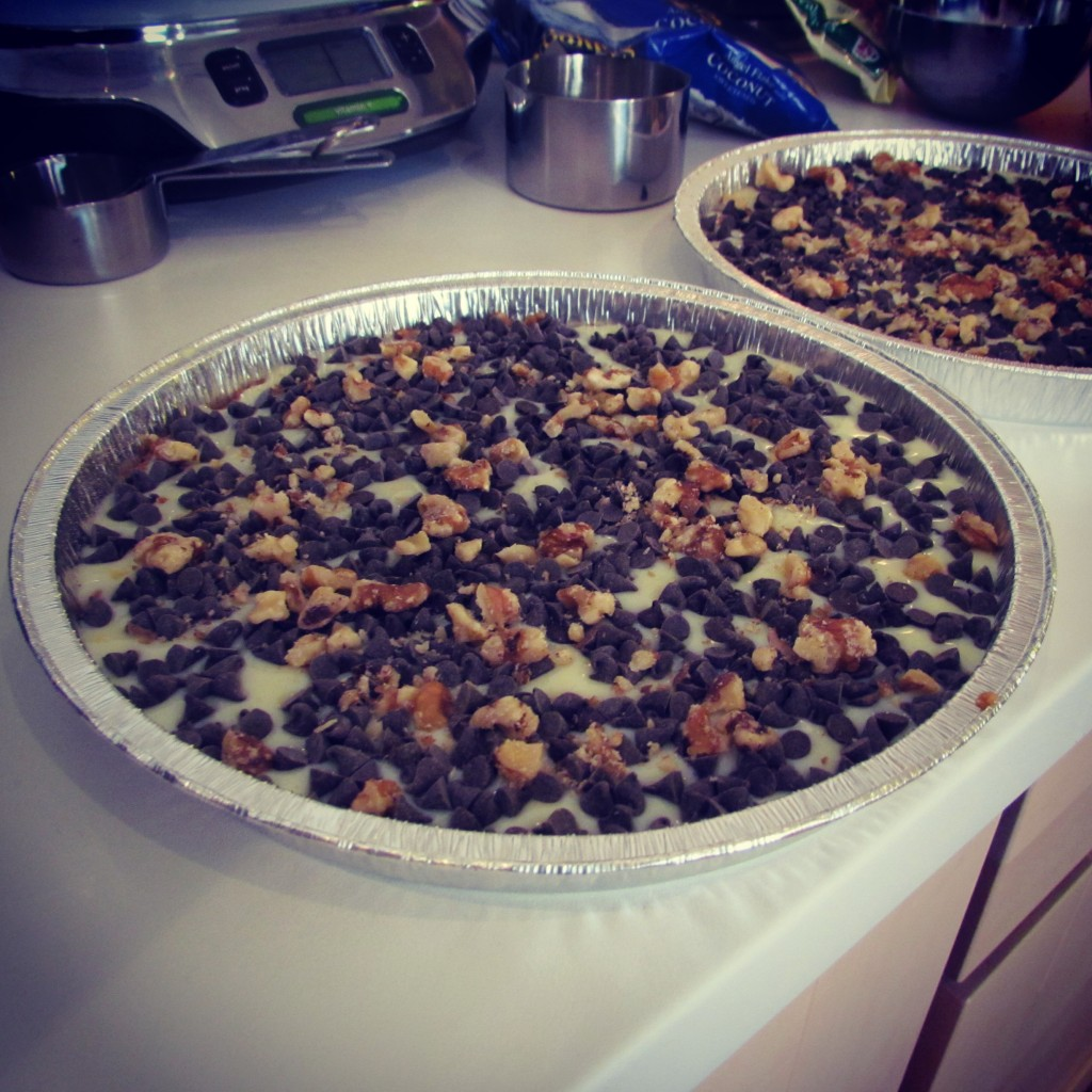 Magic Cookie Bars con noci
