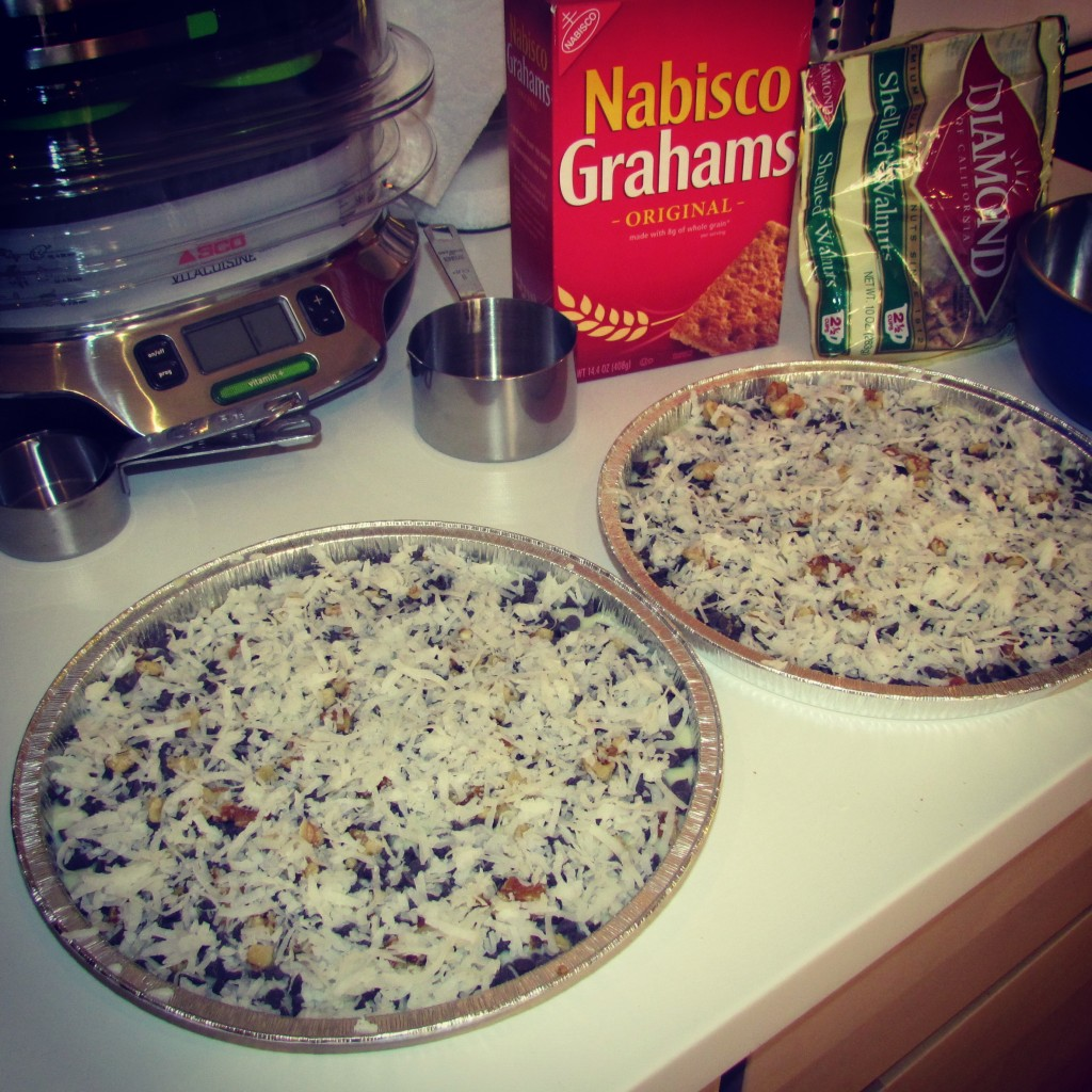Magic Cookie Bars con cocco