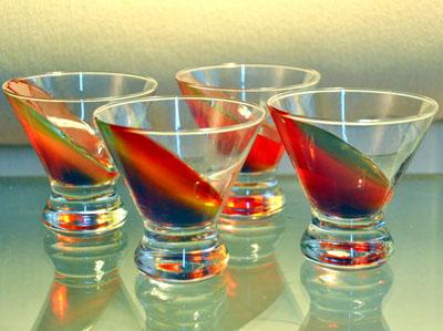 Jello-shots inclinati
