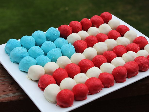 Dolce a forma di bandiera americana