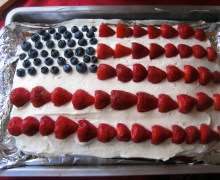 torta bandiera americana