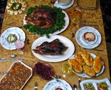 festa tavola ringraziamento