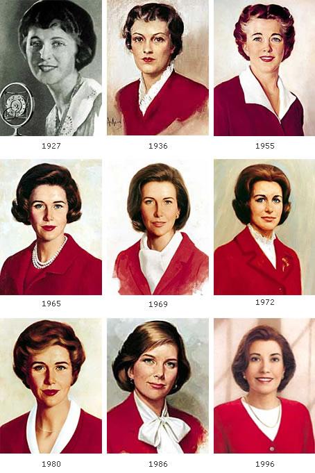 I volti di Betty Crocker negli anni