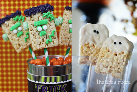 Rice Krispy Treats per Halloween