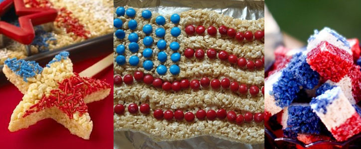 Idee per decorare i Rice KrispiesTreats per il 4th of July Americano