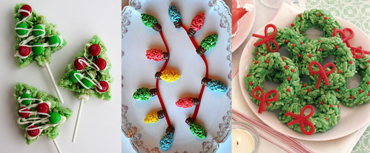 Idee per decorare i Rice Krispy Treats di Natale