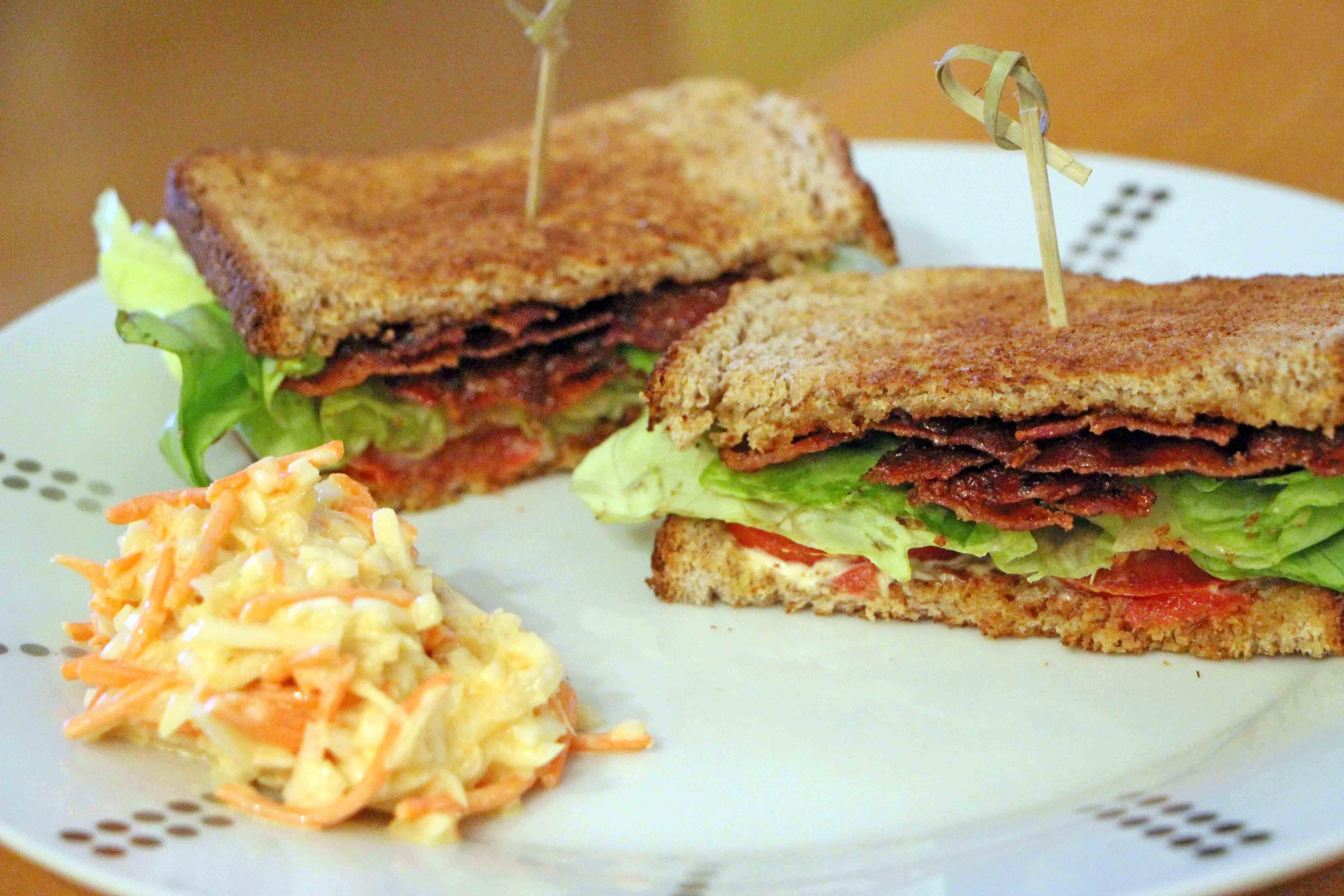 Recette du club sandwich americano BLT