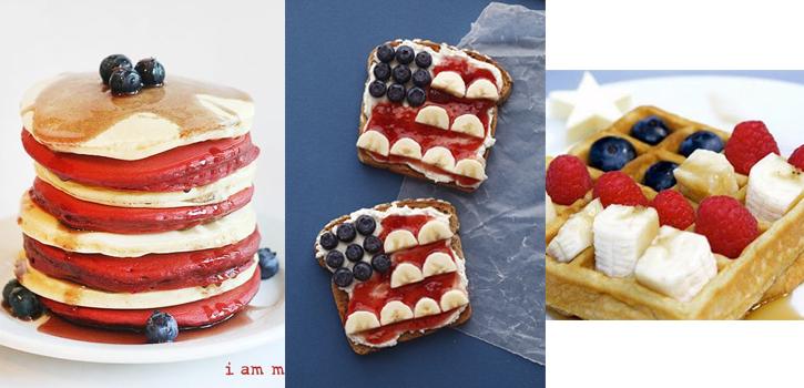 Petit déjeuner américain pour le 4 juillet