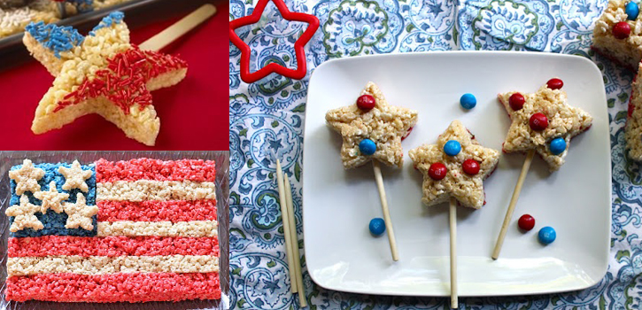 Idées rice krispies treats pour Independance day