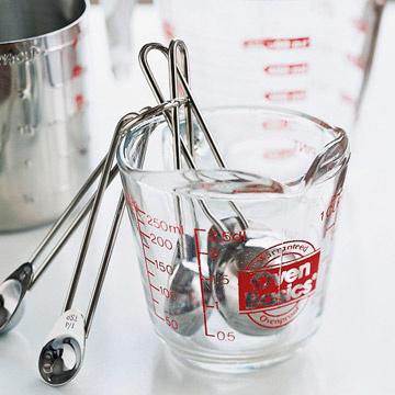 tazze per misurare ricette americane